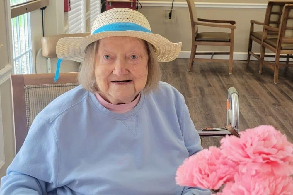 smiling senior resident