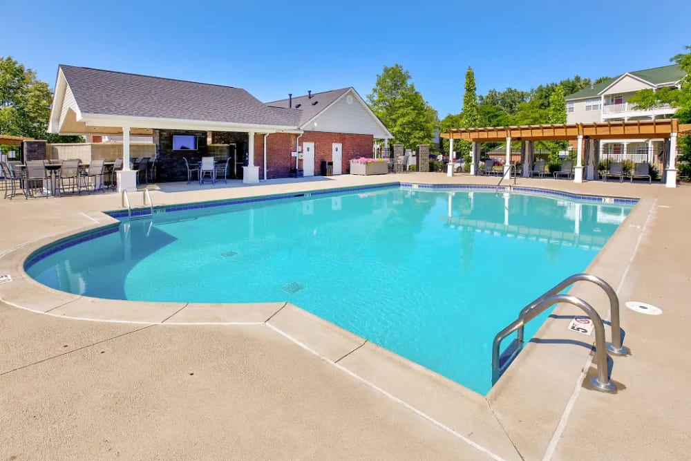 One of the sparkling pools at Charleston Pines Apartment Homes in Florence, Kentucky