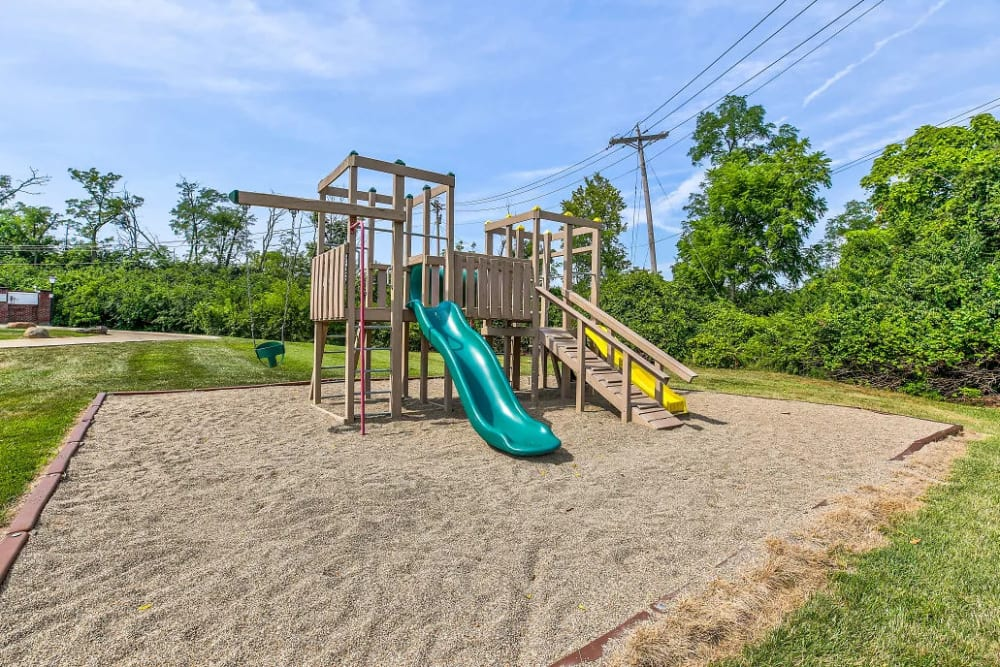 The playground for the kids who live at Four Seasons Apartments in Erlanger, Kentucky