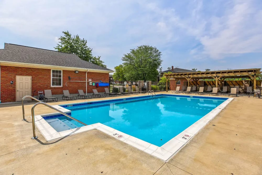 A view of the pool at Four Seasons Apartments in Erlanger, Kentucky
