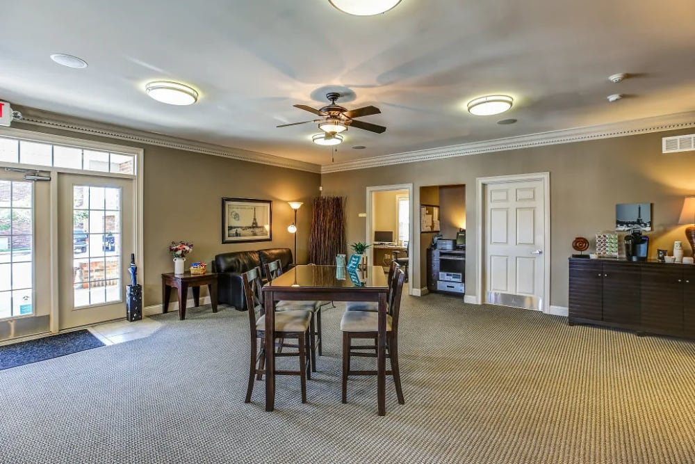 The community clubhouse at Reserve at Ft. Mitchell Apartments in Ft. Mitchell, Kentucky
