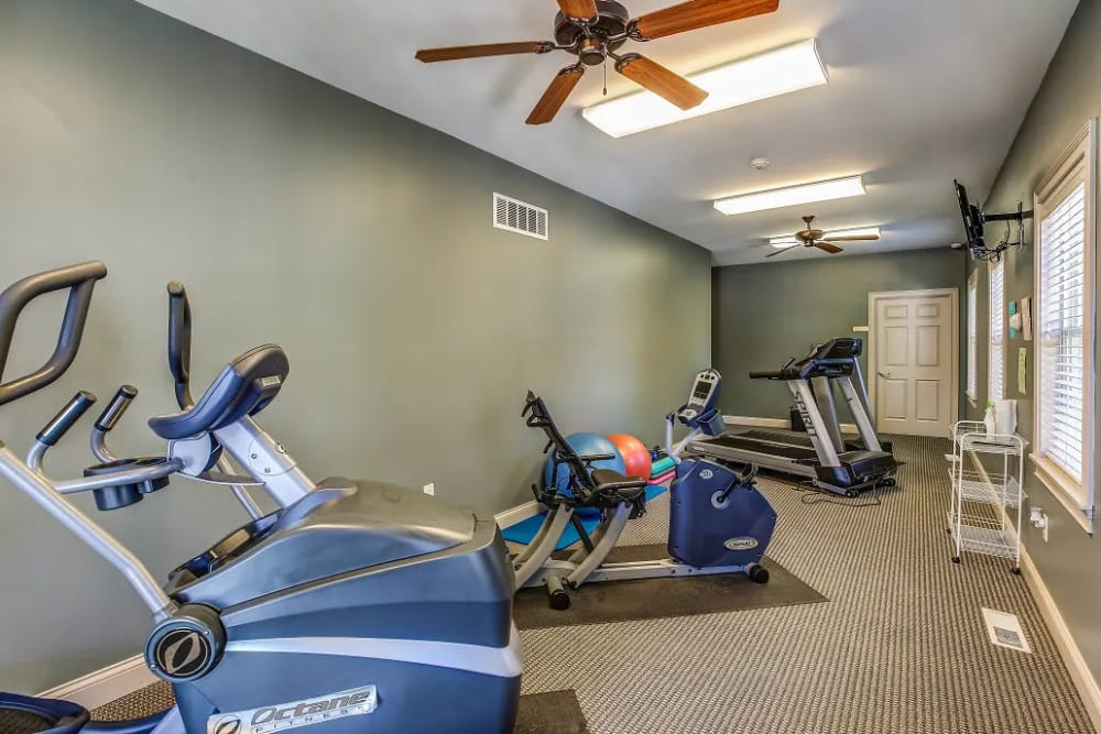 24-hour fitness center at Reserve at Ft. Mitchell Apartments in Ft. Mitchell, Kentucky