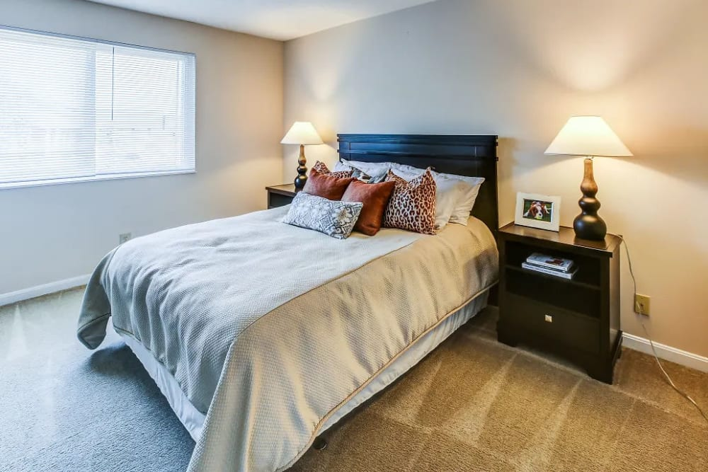 Spacious bedroom in an apartment home at Reserve at Ft. Mitchell Apartments in Ft. Mitchell, Kentucky