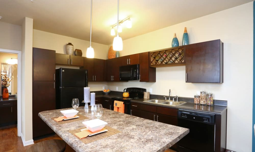 updated kitchen at Springs at May Lakes in Oklahoma City, OK
