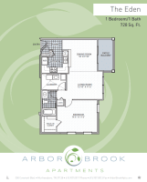Printable floor plan image at Arbor Brook in Murfreesboro, Tennessee