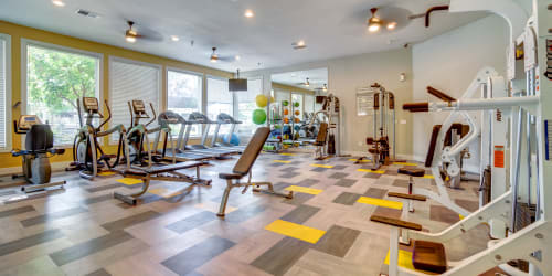 Getting ready for a jog at Hawthorn Village Apartments in Napa, California