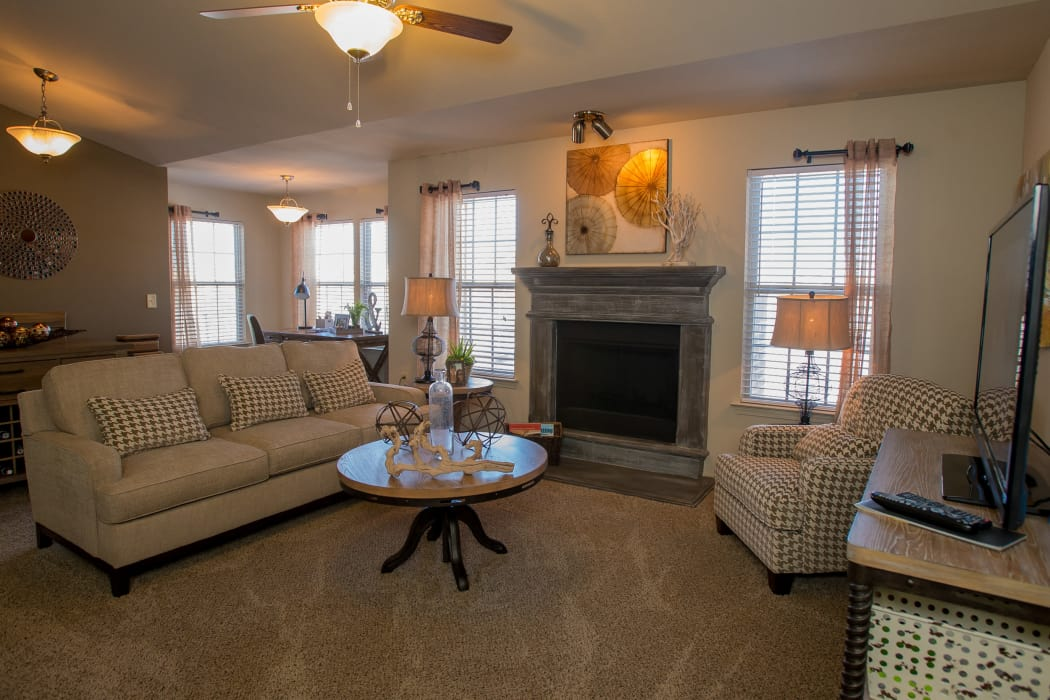 Wonderful living room at Villas at Canyon Ranch in Yukon, Oklahoma