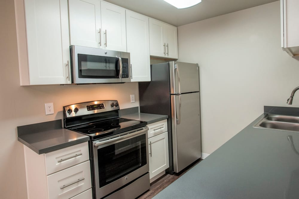 Apartment kitchen at Ballena Village Apartment Homes in Alameda, California