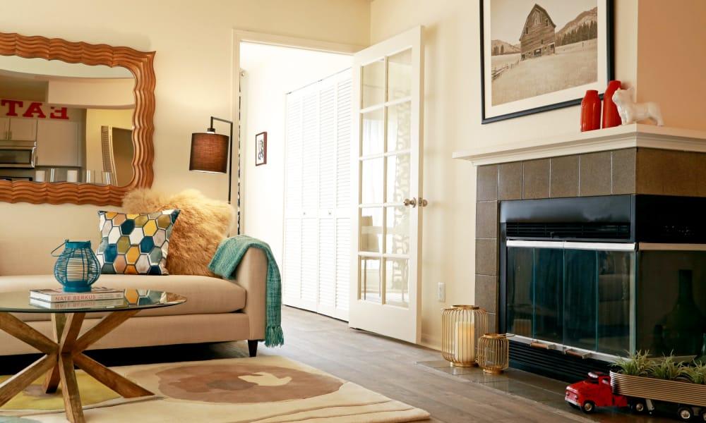 Living room at Keystone Apartments in Northglenn, Colorado