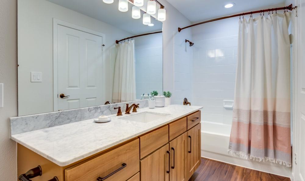 Spacious bathroom at Riata Austin in Austin, Texas
