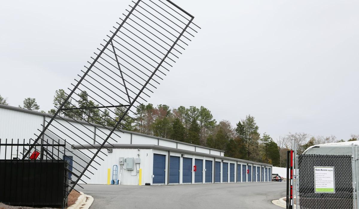 Midgard Self Storage access gate at storage units in Lake Wylie, South Carolina
