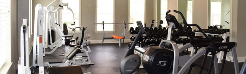 Fitness center at our North Little Rock apartment homes