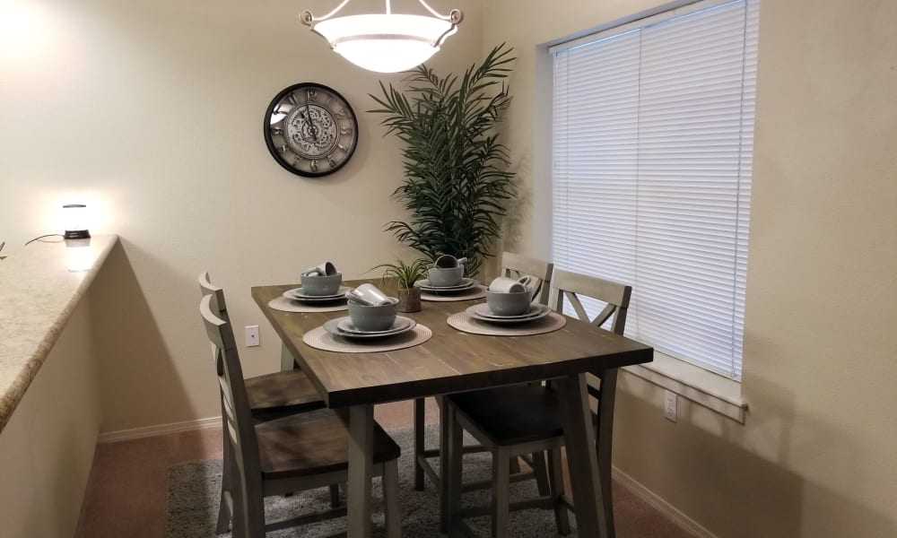 Dining table at Evergreen Senior Living in Eugene, Oregon