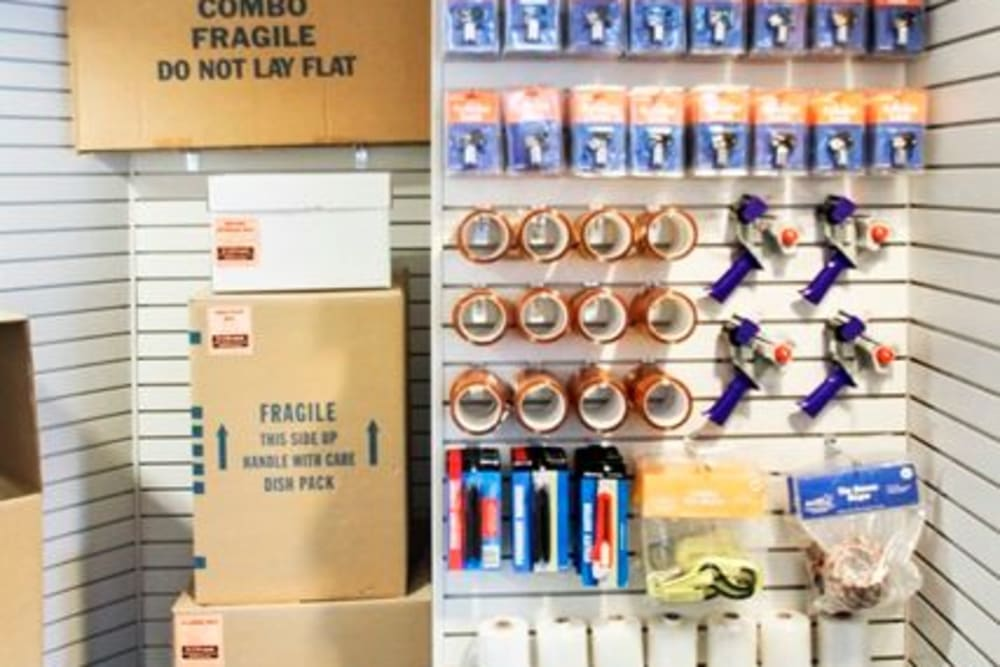 Packing and moving supplies available at A-1 Self Storage in Concord, California
