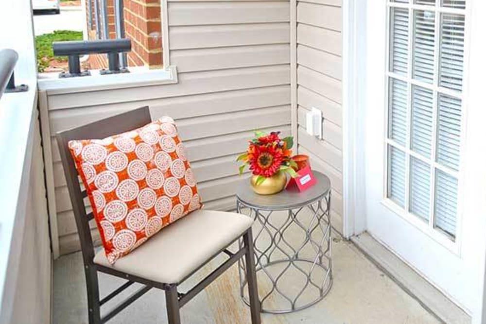Wonderful bright balcony at Longhill Grove in Williamsburg, Virginia