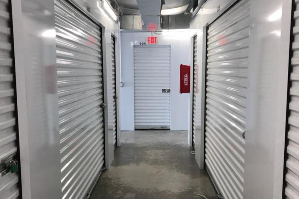 Interior storage units at All Seasons Self Storage in Little River, South Carolina