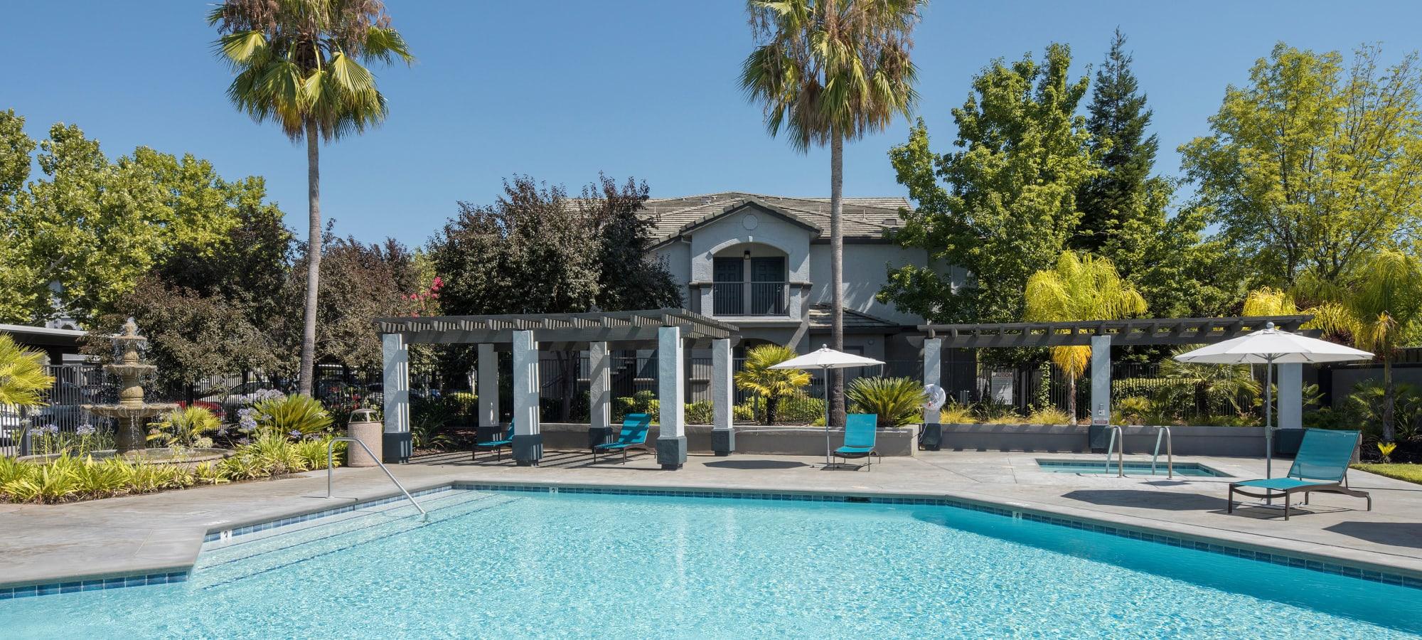 Swimming pool at Avion Apartments in Rancho Cordova, California