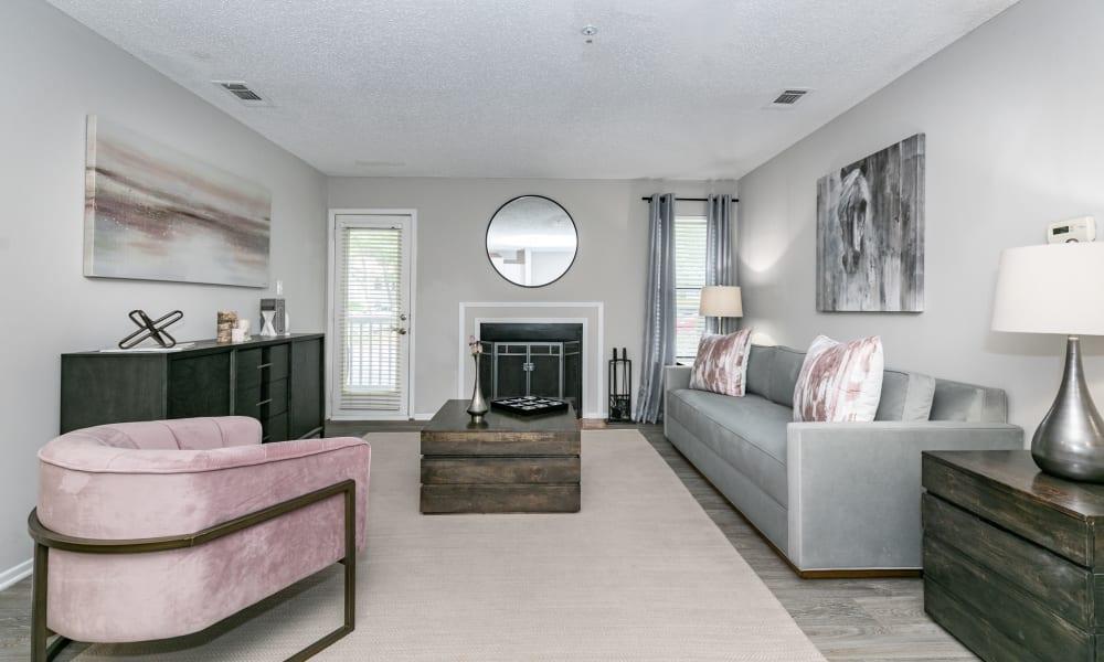 Our Beautiful Apartments in Alpharetta, Georgia showcase a Living Room