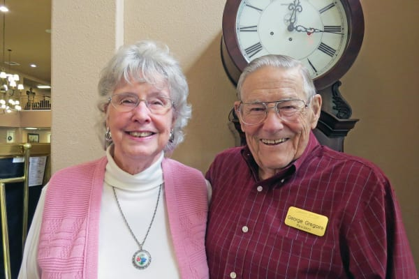 George and JoAnn Gregoire, residents at Camden Springs Gracious Retirement Living in Elk Grove, California