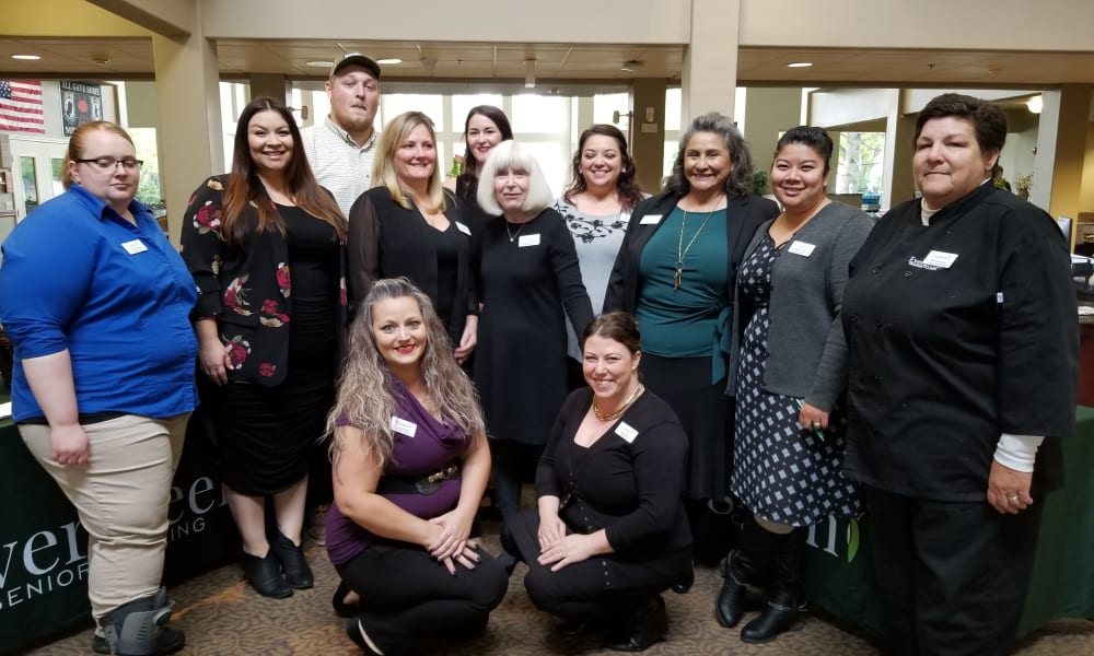 Community team at Evergreen Senior Living in Eugene, Oregon