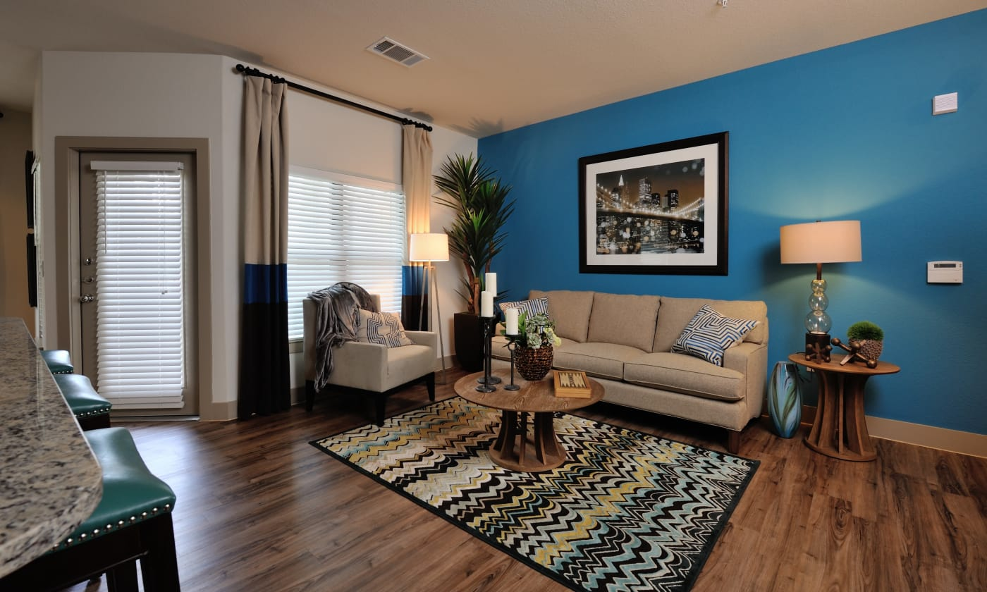 Living room at Cordevalle Apartments in Round Rock, Texas