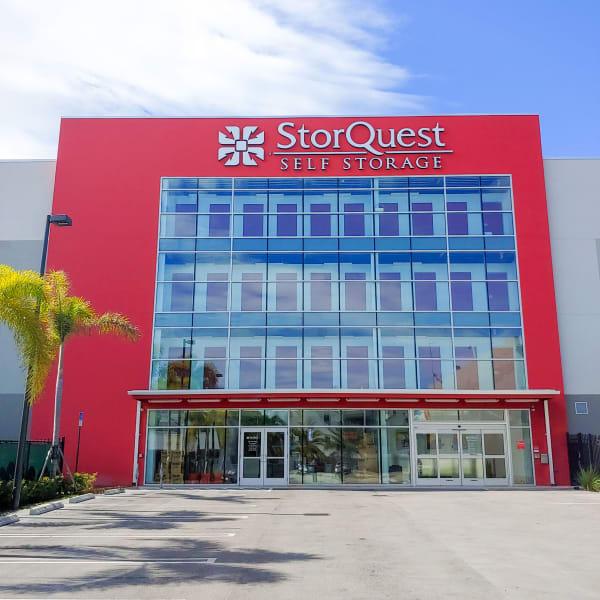 Exterior of StorQuest Self Storage in North Miami Beach, Florida