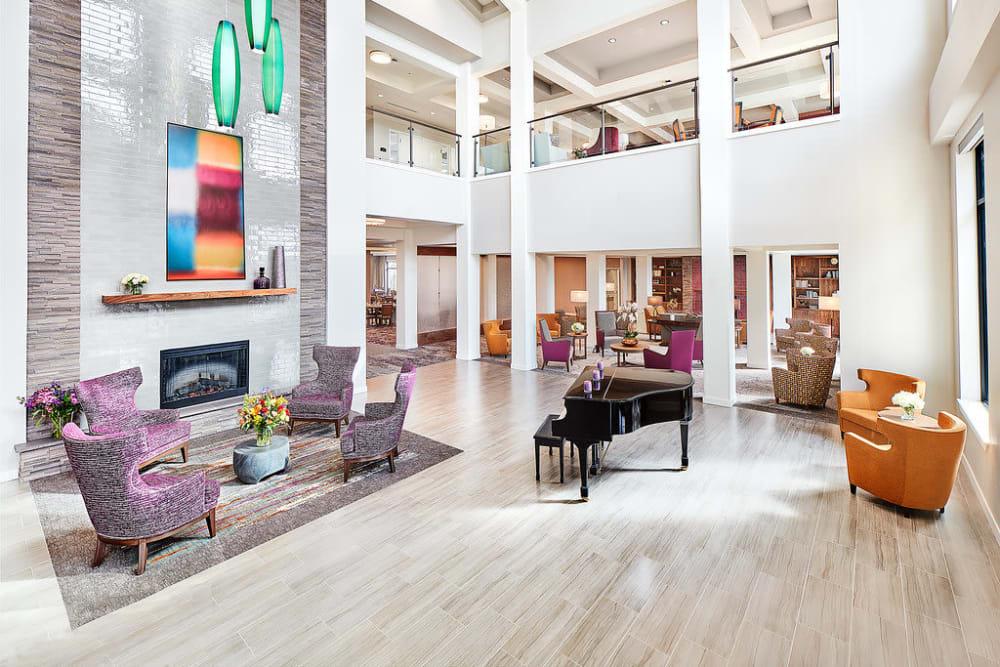 The lobby at Anthology of South Jordan in South Jordan, Utah