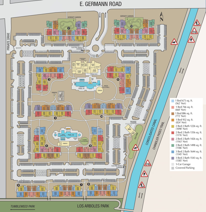 Site Map of Sky at Chandler Airpark at Chandler, AZ