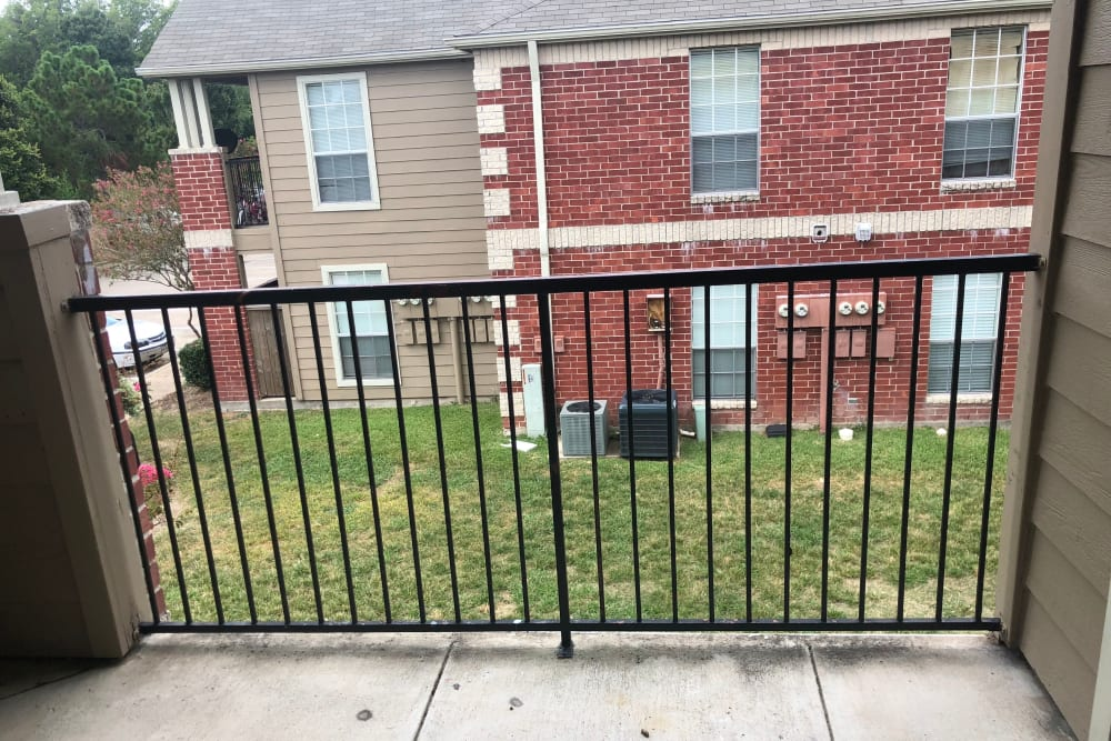 Westport Apartments offers a beautiful private balcony in Angleton, Texas