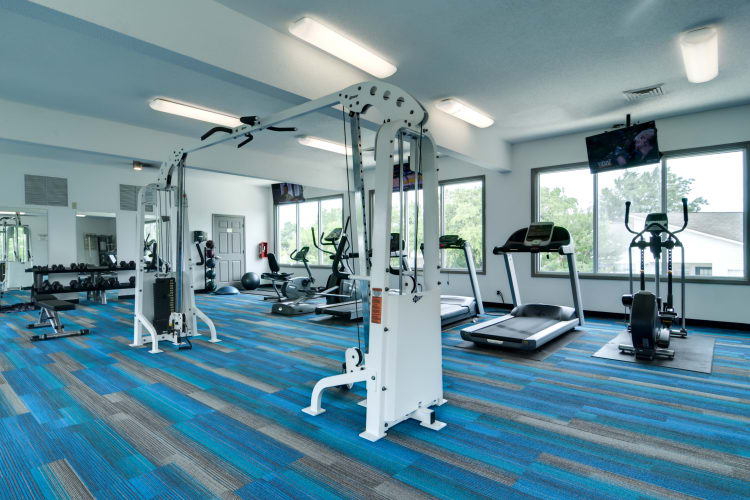 Fitness center at Harrison Grande