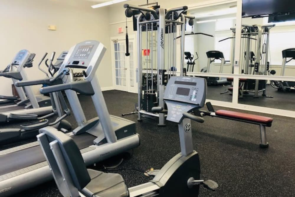 Fitness center at The Flatts Salisbury in Salisbury, Maryland