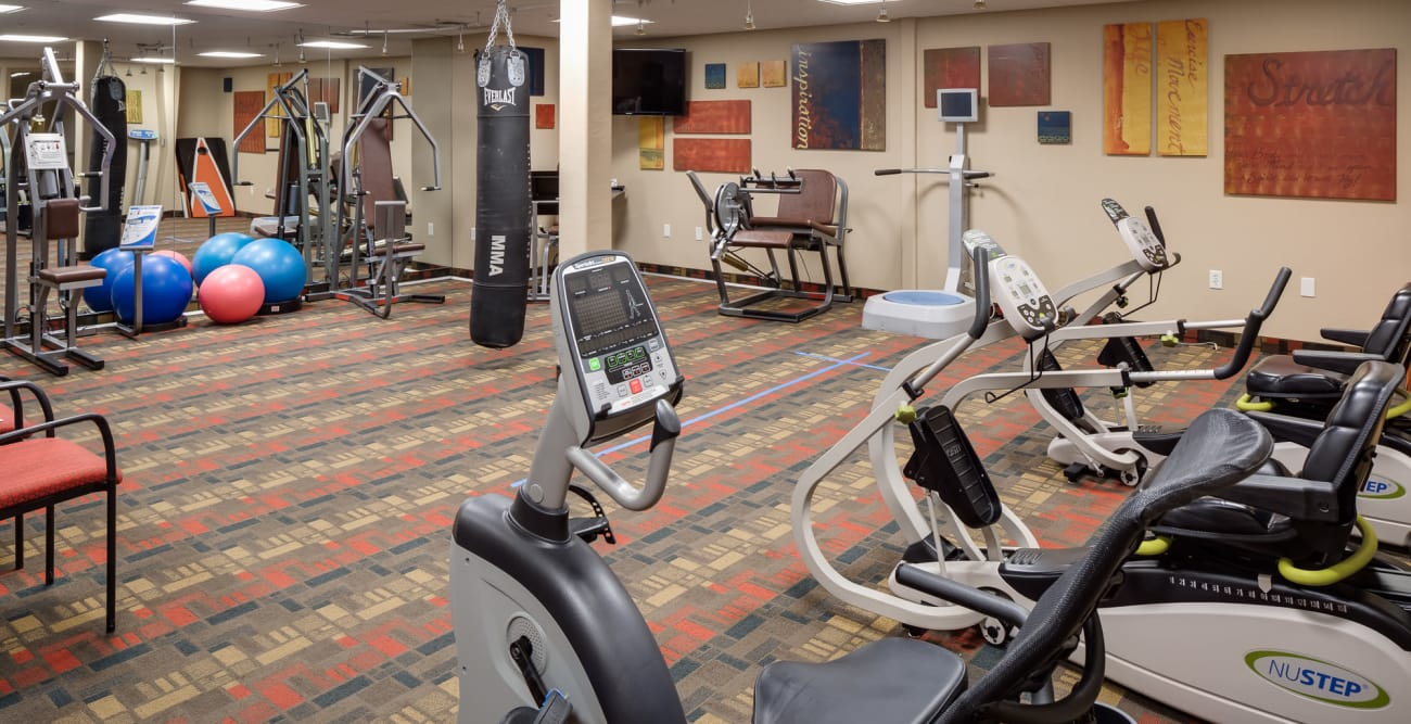 Fitness center at McDowell Village in Scottsdale, Arizona