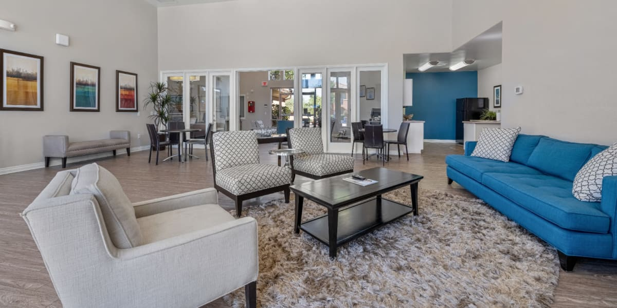 Clubhouse interior area at Alante at the Islands in Chandler, Arizona