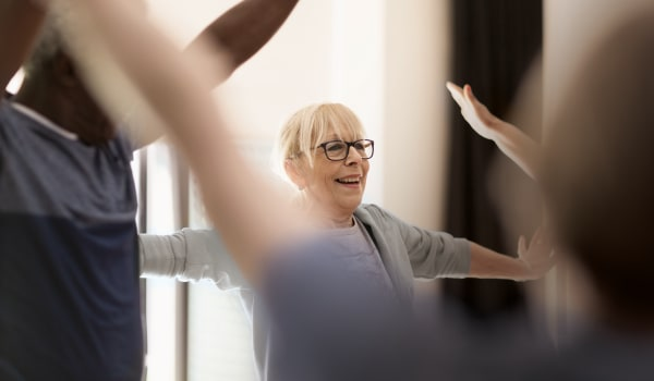 Stretching classes at Anthology Senior Living in Chicago, Illinois