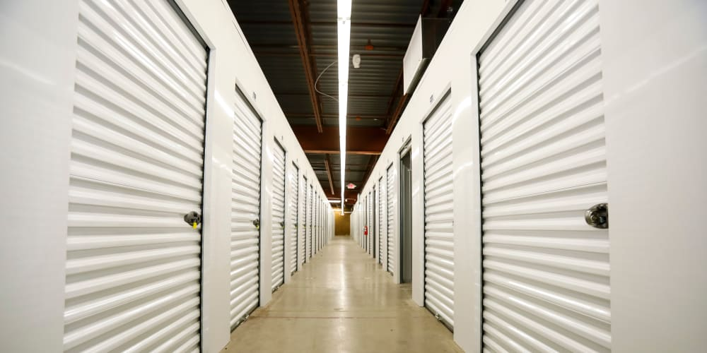Indoor climate-controlled units at StorQuest Self Storage in Madison, Wisconsin