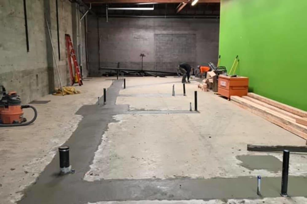 Construction in progress on Pet Samaritan's new clinic