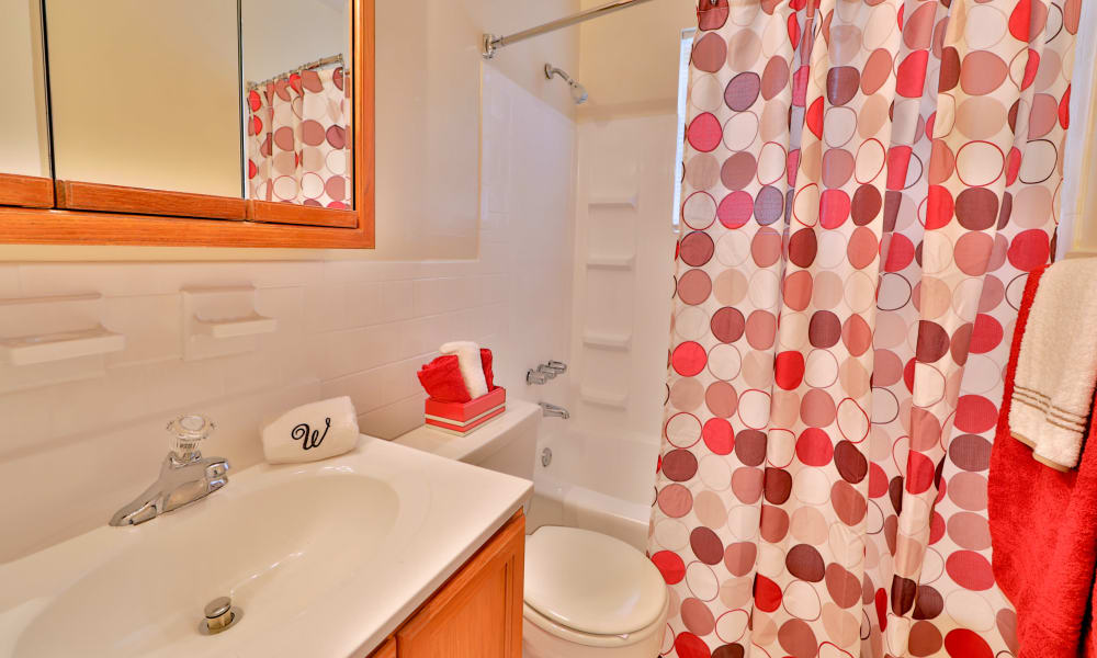 Westerlee Apartment Homes offers a bathroom in Baltimore, MD