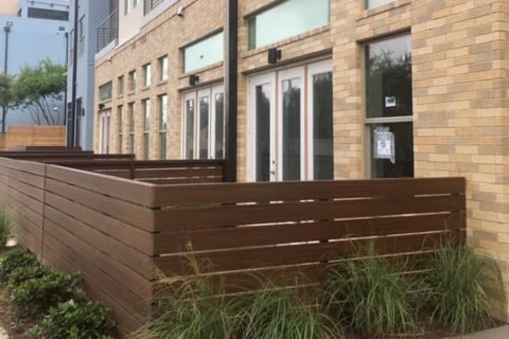 Backyard areas access at  in San Antonio,TX