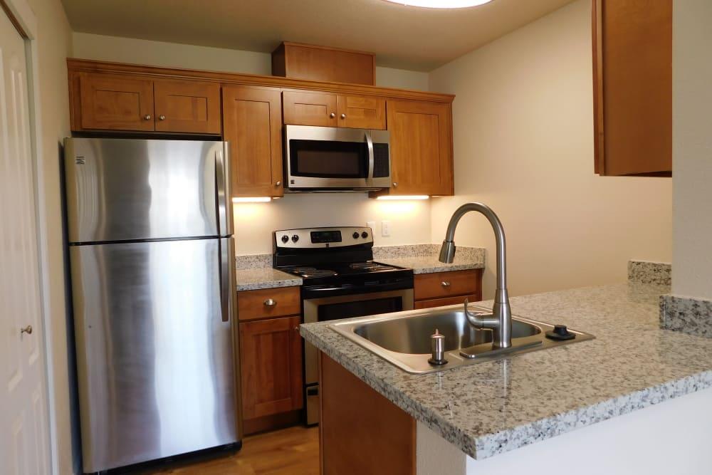 Enjoy apartments with a modern kitchen at Millennium Park