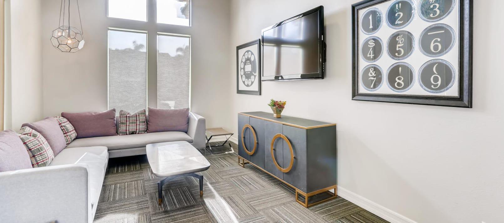 Screening Gaming Room at Alize at Aliso Viejo Apartment Homes in Aliso Viejo, California