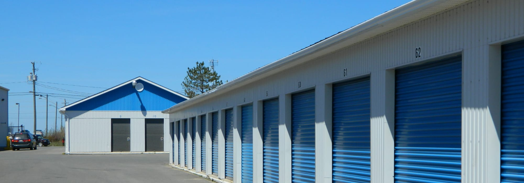 Exterior of Apple Self Storage - Fredericton in Fredericton, New Brunswick
