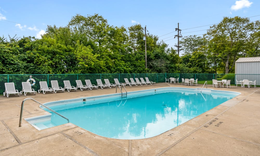 Sparkling pool at Monroe Terrace Apartments in Monroe, Ohio