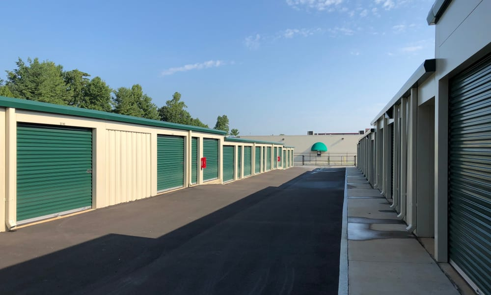 Exterior units at AAA Self Storage in Greensboro, NC