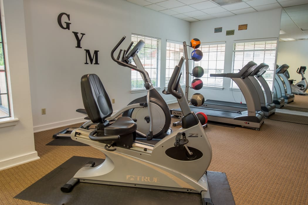 Stationary bike at Council Place Apartments in Oklahoma City, Oklahoma