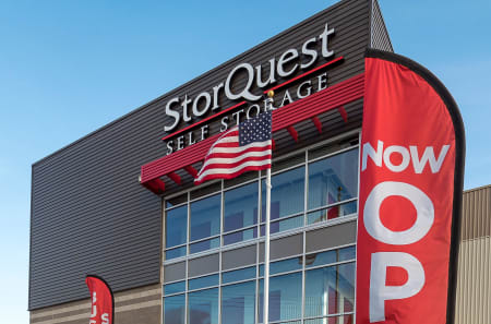 Signage in front of StorQuest Self Storage in Arvada, Colorado