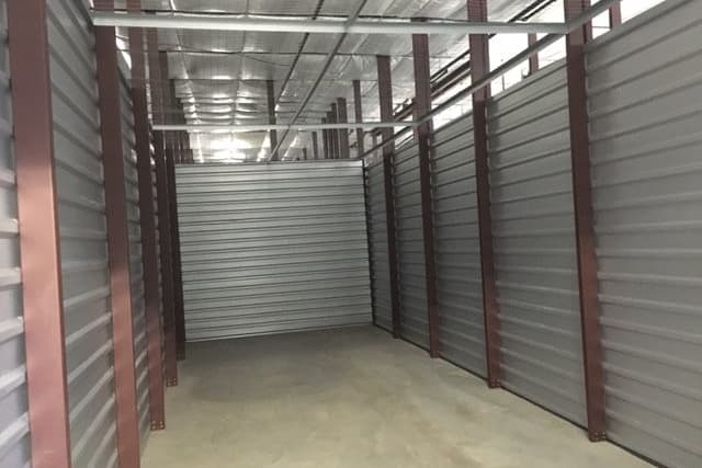 Month to month rent is offered with interior storage units at Advantage Storage -  Justin Road in Flower Mound, Texas