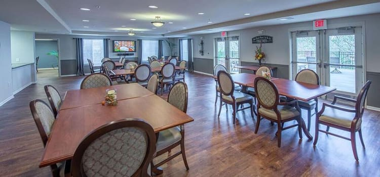 Dining hall at The Gardens at Creekside
