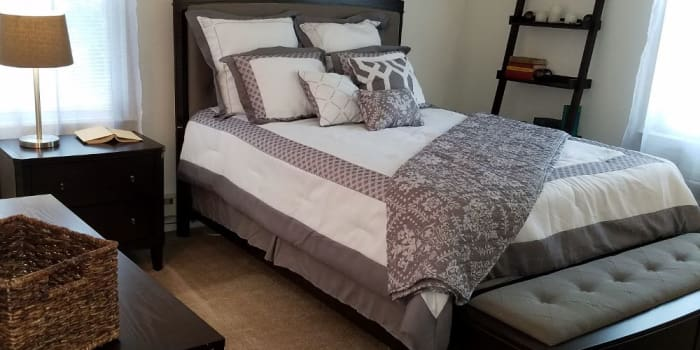 Beautiful bedroom at Eatoncrest Apartment Homes in Eatontown, New Jersey