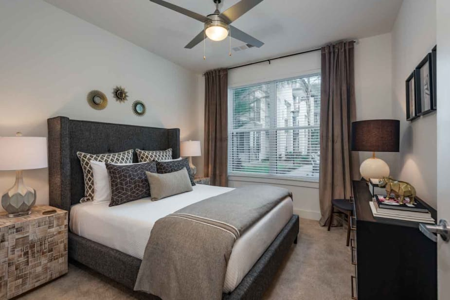 State-of-the-art bedroom at The Jaxon in Jacksonville, Florida