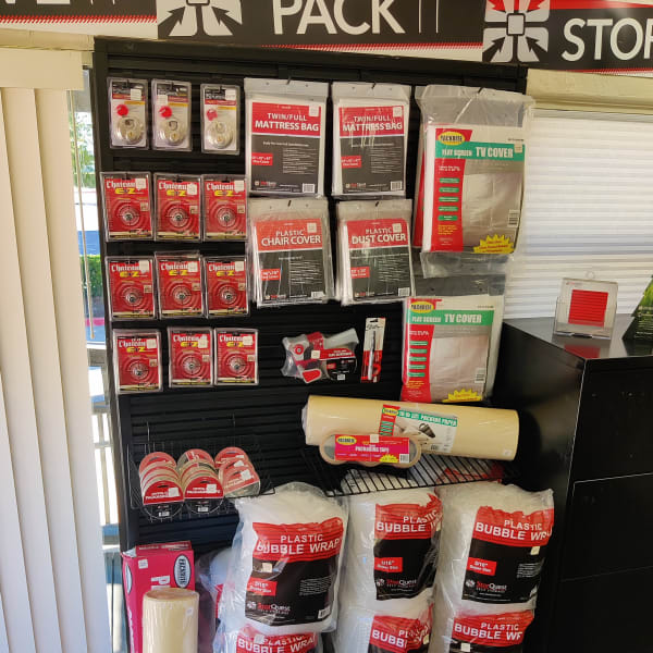 Packing supplies sold at StorQuest Self Storage in Claremont, California